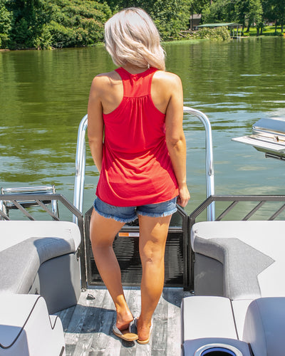 Lake Babe Graphic Tank - Red