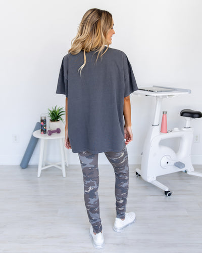 Latest Lineup Distressed Tee - Charcoal