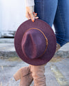 Laurel Felt Hat - Heather Plum