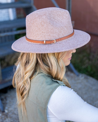 Laurel Felt Hat - Heather Cinnamon