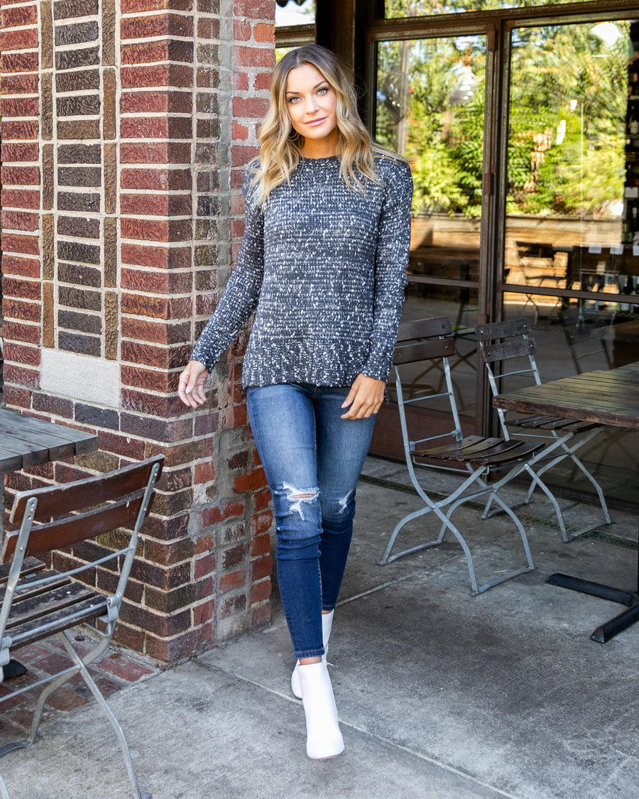 Lead By Example Sweater - Charcoal