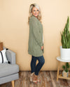 Leading The Way Knit Cardigan - Sage