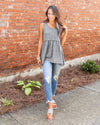 Leap Of Faith Top - Heather Charcoal