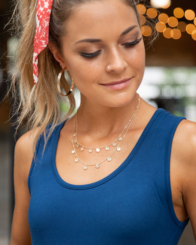 Leila Two Tiered Necklace - Gold