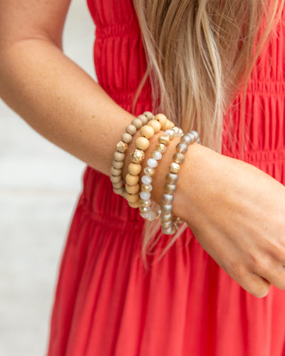 Lenna 4 Piece Stackable Bracelet - Gold