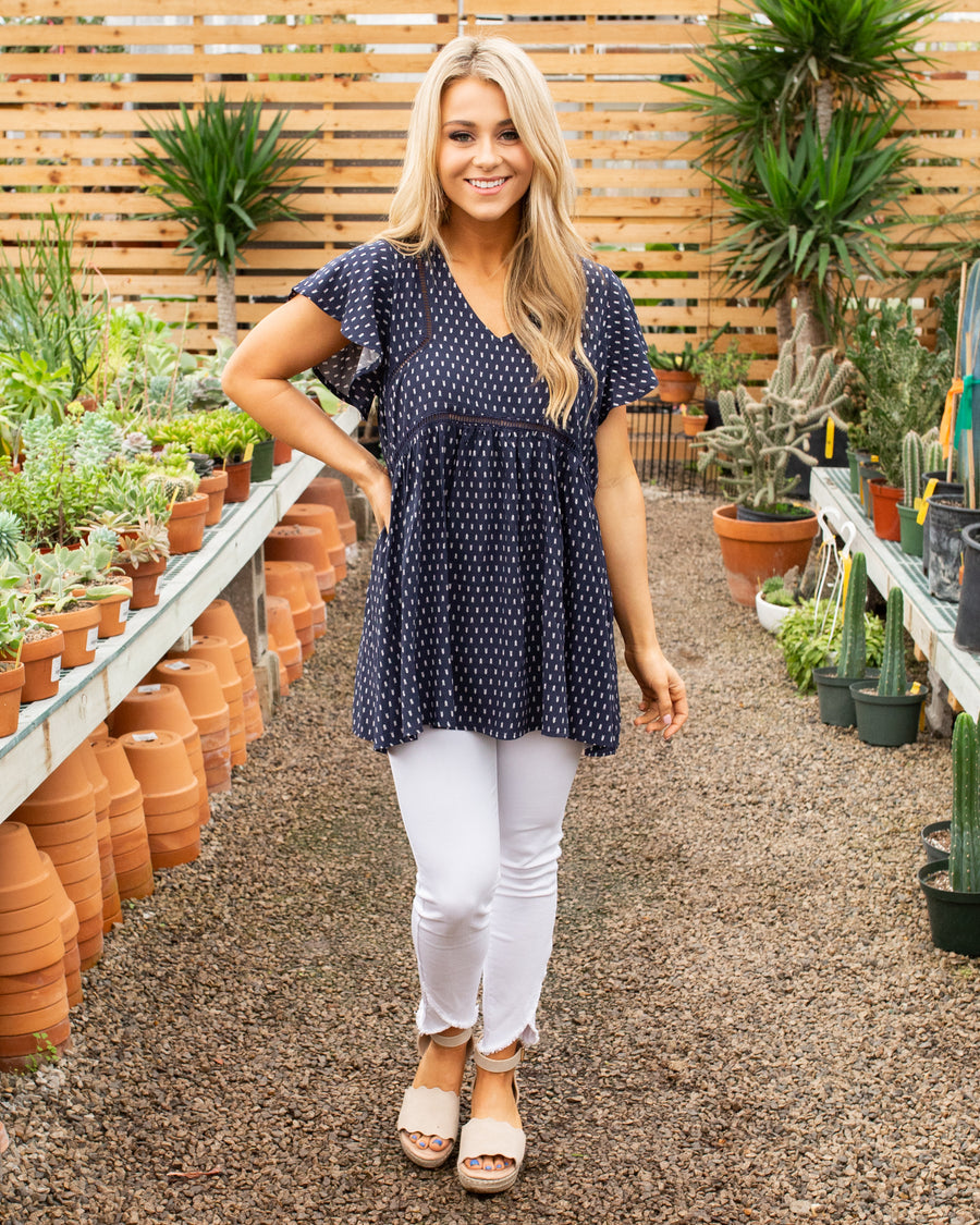 Let's Be Adventurous Top - Navy
