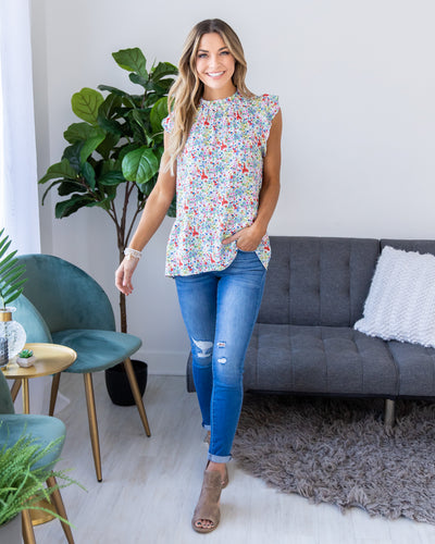 Life Is Sweet Top - Ivory Multi