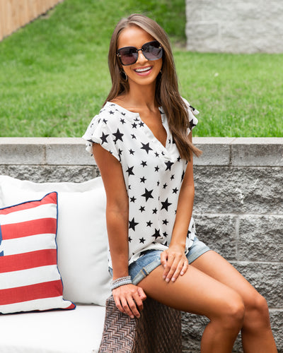 Light Up The Night Top - Ivory