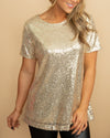 Light Up The Night Top - Gold