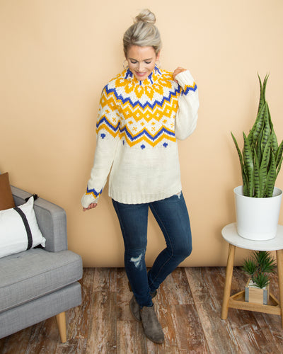 Like The Old Days Sweater - Cream