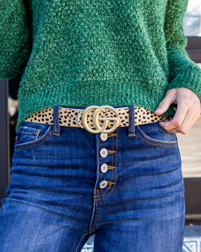 Lillian Cheetah Belt - Tan
