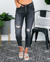 Lindley Distressed Skinny Jeans - Black