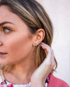 Lindsay Leaf Earrings - Gold