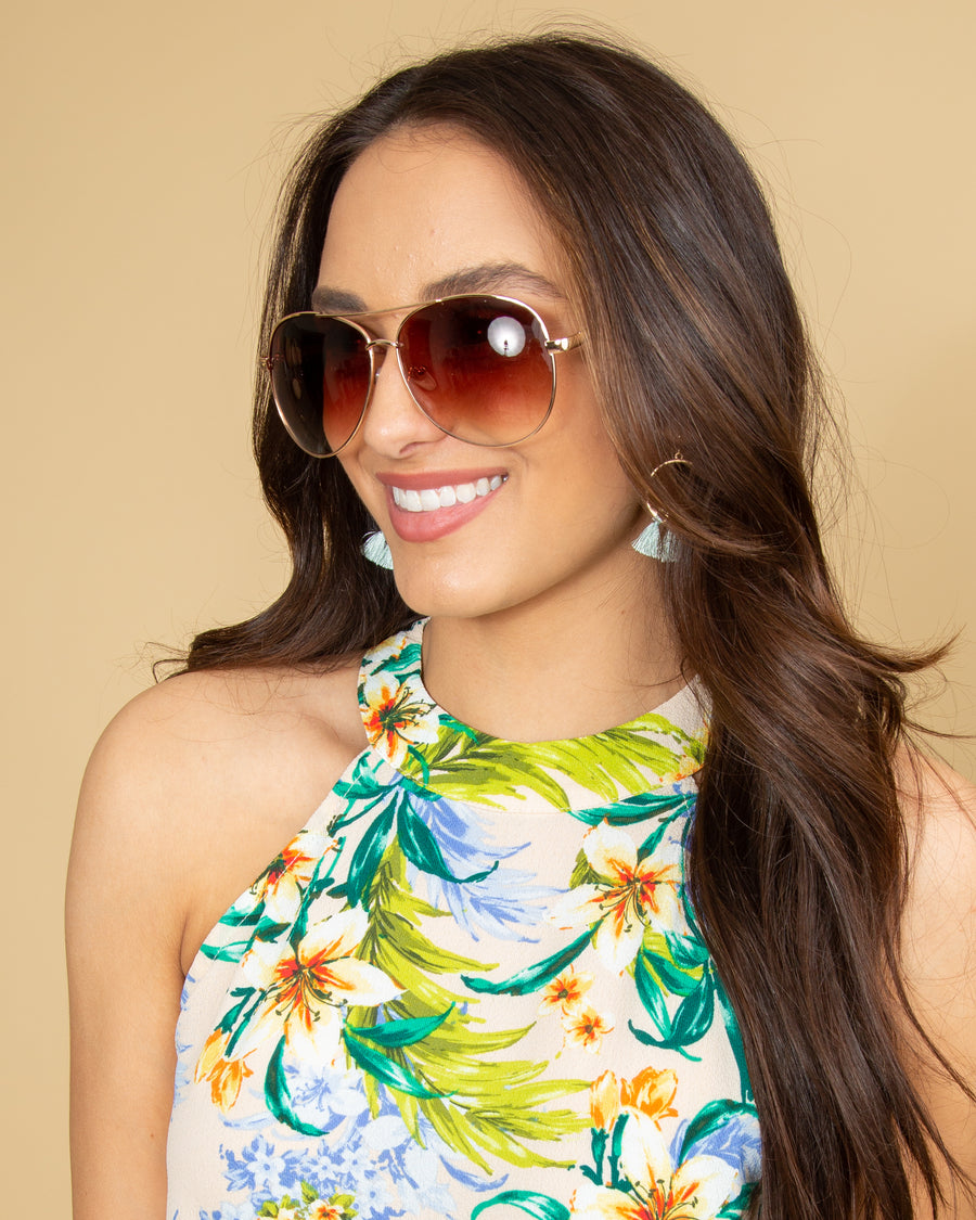 Liona Sunglasses - Gold