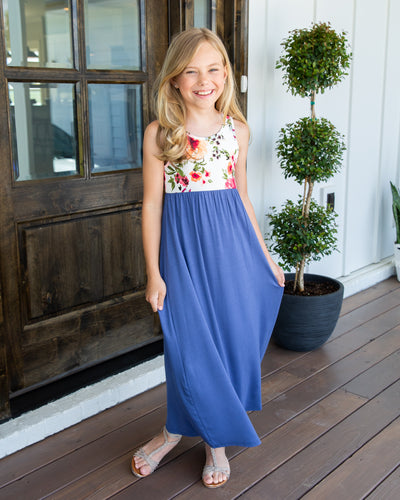 Little Can't Wait For Vacay Maxi Dress - Blue