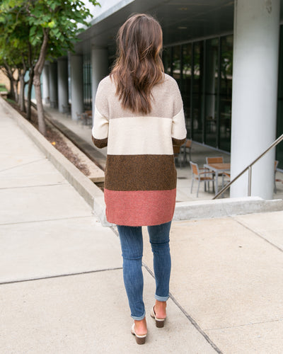 Little Do You Know Cardigan - Rust Multi