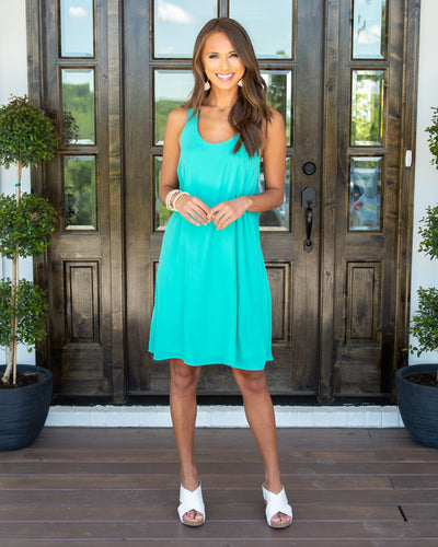 Little Moments Dress - Turquoise