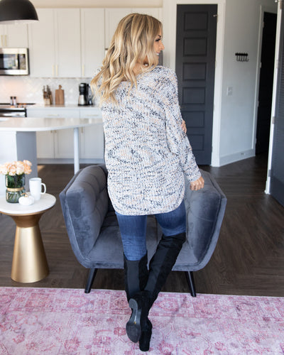 Living Leisurely Cardigan - Grey Multi
