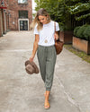 Living My Dreams Jogger Pant - Olive