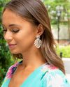 Lizzie Leaf Earrings - Silver