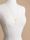 Locklin Pendant Necklace - Pale Pink