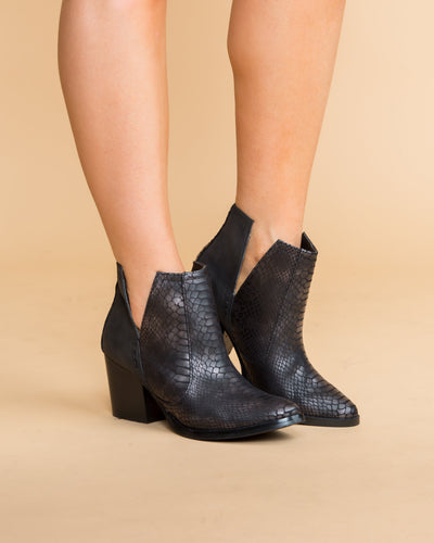 Not Rated Lola Cutout Bootie - Black