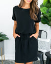 Look My Way Dress - Black