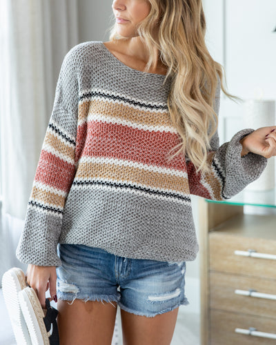 Looking For Inspiration Sweater - Grey Multi