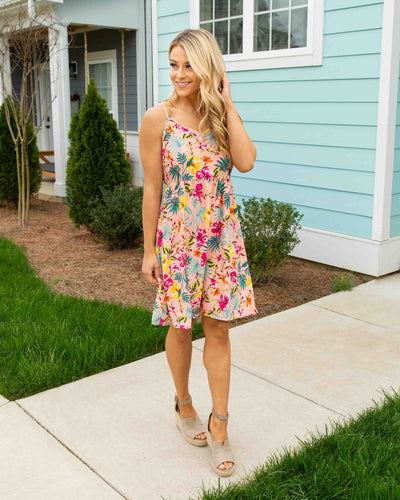 Lost In Paradise Dress - Blush