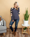Lost In A Daydream Top - Navy