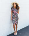 Love In Bloom Floral Dress - Black