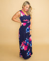 Love For A Lifetime Floral Maxi - Navy