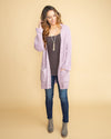 Love In L.A. Chenille Cardigan - Lilac
