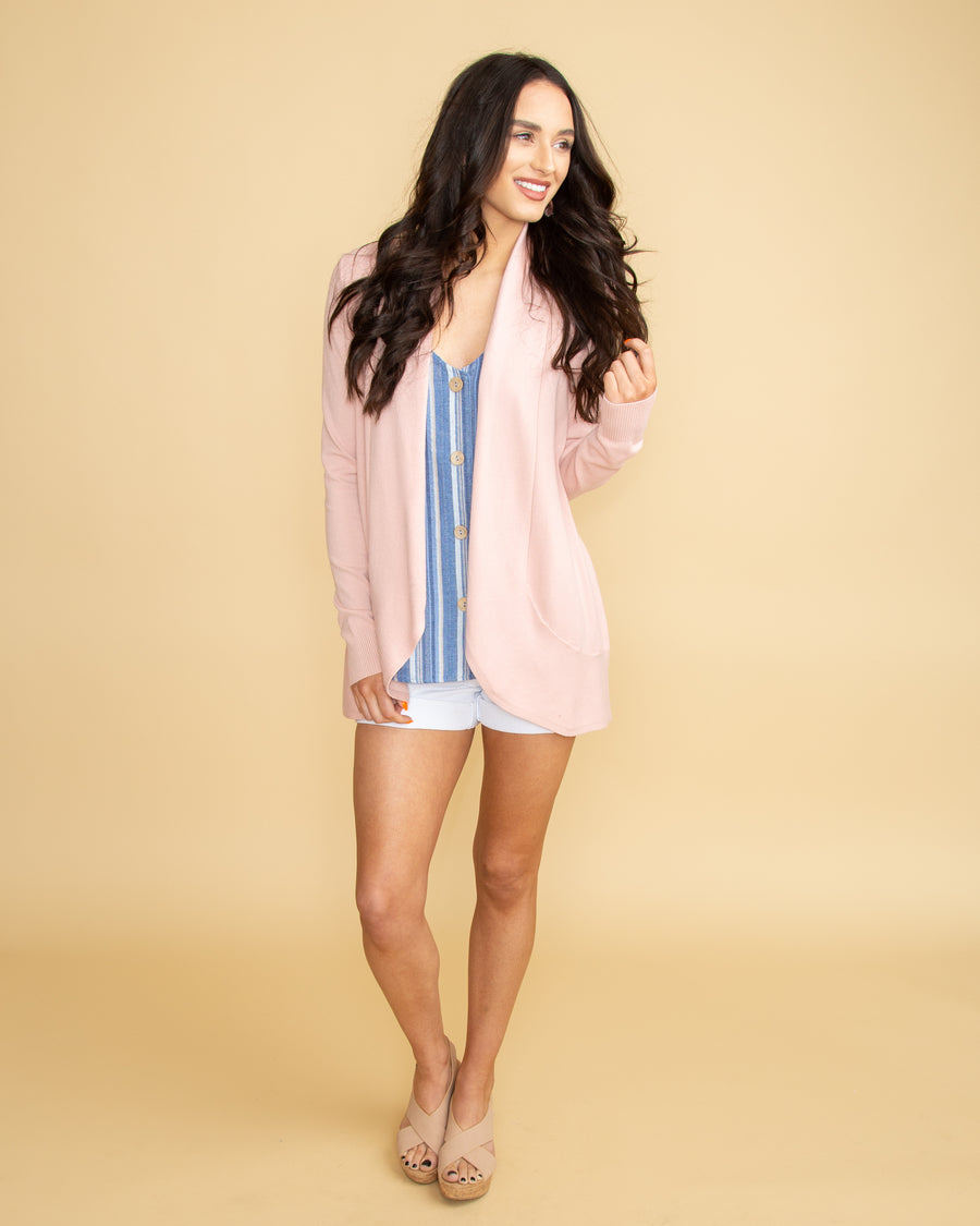 Love Is Waiting Cardigan - Pale Pink