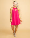 Lovely Confidence Cutout Dress - Fuchsia