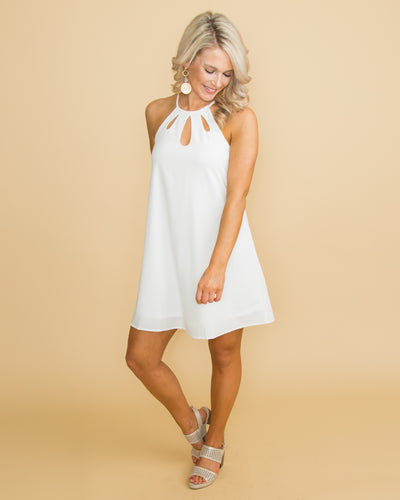 Lovely Confidence Cutout Dress - Off White