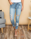 Luca Distressed Skinny Jeans - Light Wash