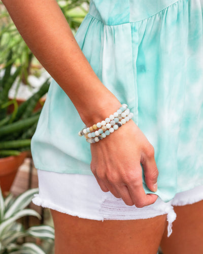 Maci Stackable Bracelet - Mint
