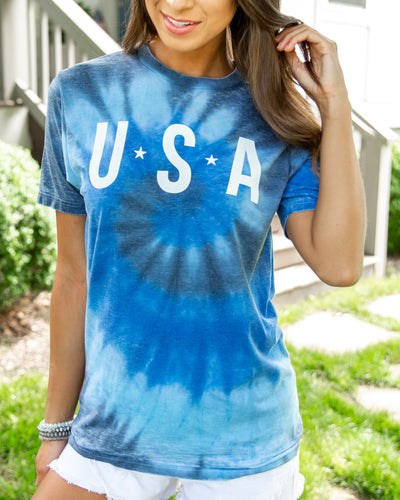 Made In The U.S.A Tee - Blue