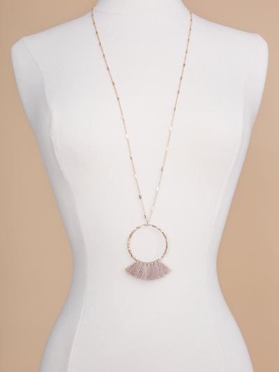 Made To Shine Tassel Necklace - Blush