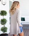 Make It Your Dream Knit Cardigan - Oatmeal