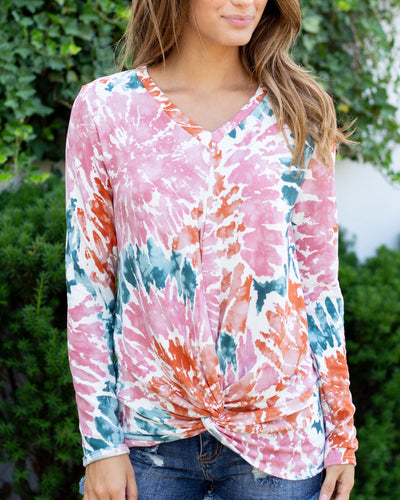 Make The Most Of The Day Top - Pink Multi