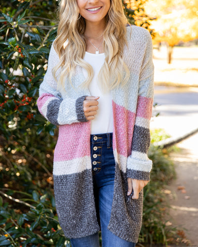 Make Time For Me Cardigan - Beige Multi