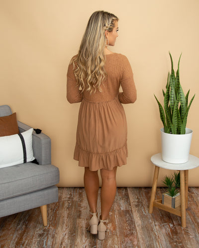 Make You Fall In Love Dress - Camel