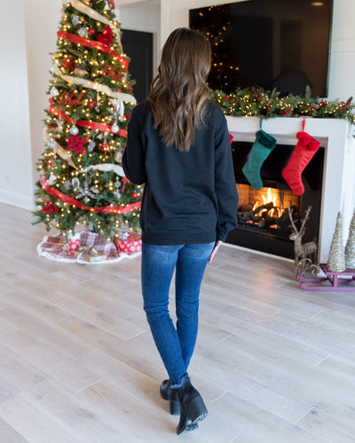 Making Spirits Bright Pullover - Black