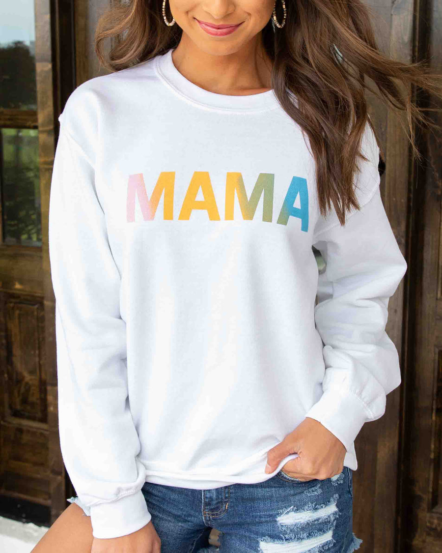 Mama Graphic Sweatshirt - Off White