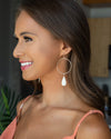 Marie Hoop Earrings - Ivory