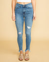 Marisa Distressed Frayed Skinny Jean - Light Wash