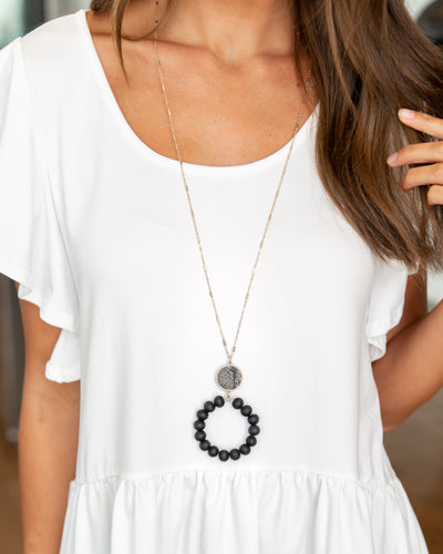 Matilda Statement Necklace - Black