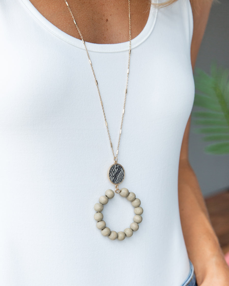 Matilda Statement Necklace - Grey